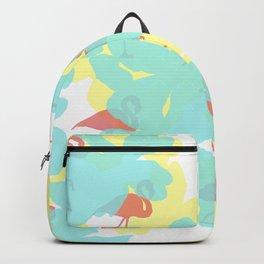 Primroses and flamingos Backpack
