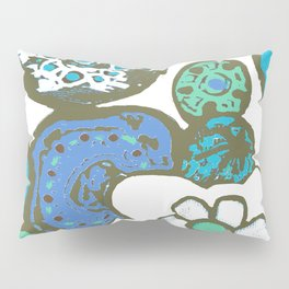 DUSTY BLUE GARDEN Pillow Sham
