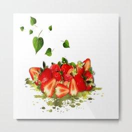 Erdbeeren Metal Print