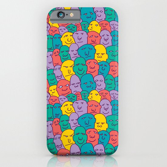 FACES OVER AND OVER iPhone & iPod Case
