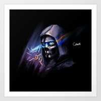 dishonored Art Prints featuring Dishonored by OneBlueWolf