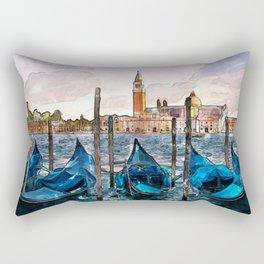 Gondolas in Venice Rectangular Pillow