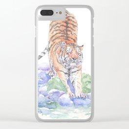 Tiger Oasis Clear iPhone Case