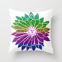 sunflower Throw Pillows featuring SunFlower by haroulita