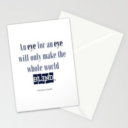 An Eye for An Eye - Gandhi Quote Stationery Cards