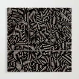 Abstraction Linear Wood Wall Art