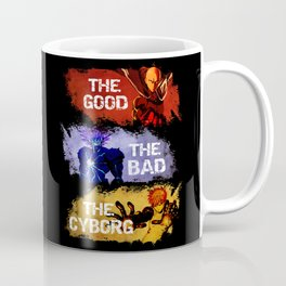 The Good The Bad The Cyborg - One Punch Man Coffee Mug