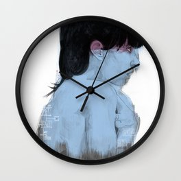 Fall Over, Spring Back Wall Clock