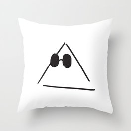 Hipster Triangle Throw Pillow