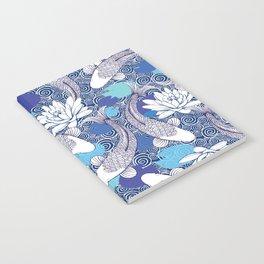 Blue Koi Ripples Notebook