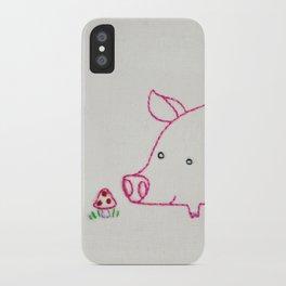 P Pig iPhone Case