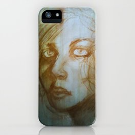 Charcoal Portrait (Magda) iPhone Case