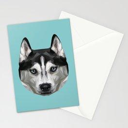 Husky // Blue Stationery Cards