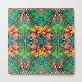 Floral Fractal Art G23 Metal Print