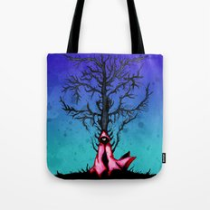 Red Riding Hood Big Bad Wolf Tote Bag