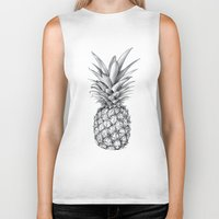 pineapple Biker Tanks featuring Pineapple by Sibling & Co.