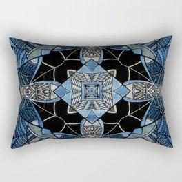 blue symmetric fantasy pattern IV Rectangular Pillow