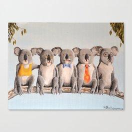 The Five Koalas Canvas Print