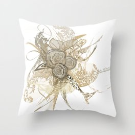 50 shades of lace Gold Throw Pillow