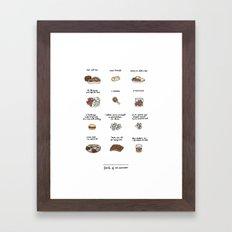 Foods of Ron Swanson Framed Art Print