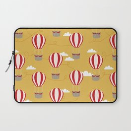 Hot air balloon pattern cute decor for boys or girls room Laptop Sleeve