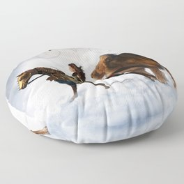 Deborah Season -Armored - David Munoz Prophetic Art Floor Pillow