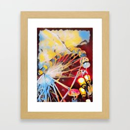 Spin the wheel Framed Art Print