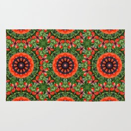 Floral mandala-style, Poppies 006.6 Rug