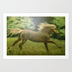 Lonely Gallop Art Print