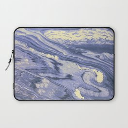 Lavender Marble With Cream Swirls Laptop Sleeve
