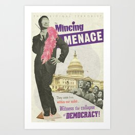 The Mincing Menace Art Print