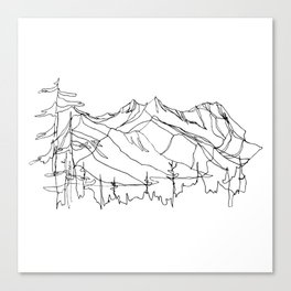 Squamish Summits :: Single Line Canvas Print