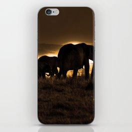 Elephant Herd On The Masai Mara iPhone Skin