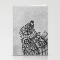 clockwork Stationery Cards featuring Clockwork Bird  by Terry Fan