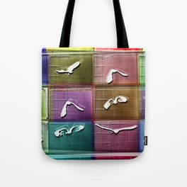 Time Lapse Motion Study Bird Color Tote Bag