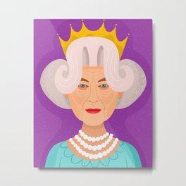 The Queen Metal Print