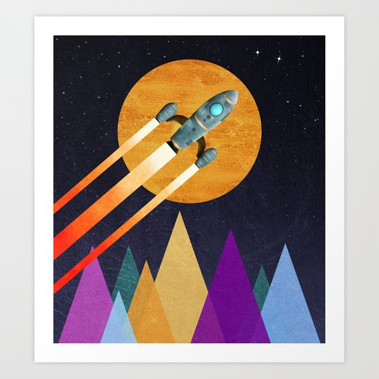 Rocket  2nd Star to the right  LLAP Art Print