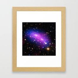 Colliding Galaxies Framed Art Print