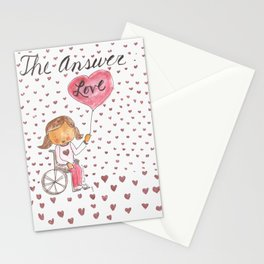The Answer:  Love in Pigtails Stationery Cards