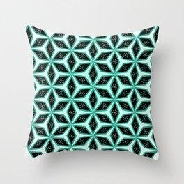 Diamond pattern in blue Throw Pillow