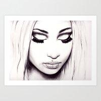 nicki Art Prints featuring  Nicki  by Bella Harris