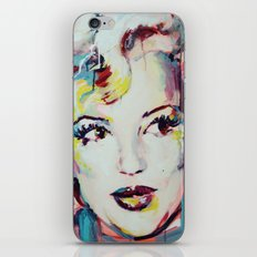 Merylin Monroe cinema and pop culture icon - portrait iPhone & iPod Skin