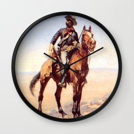 "Frederic Remington Western Art ""Buffalo Soldier"" Wall Clock"