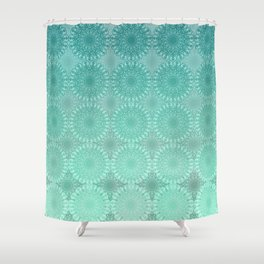 Laced in Teal Shower Curtain