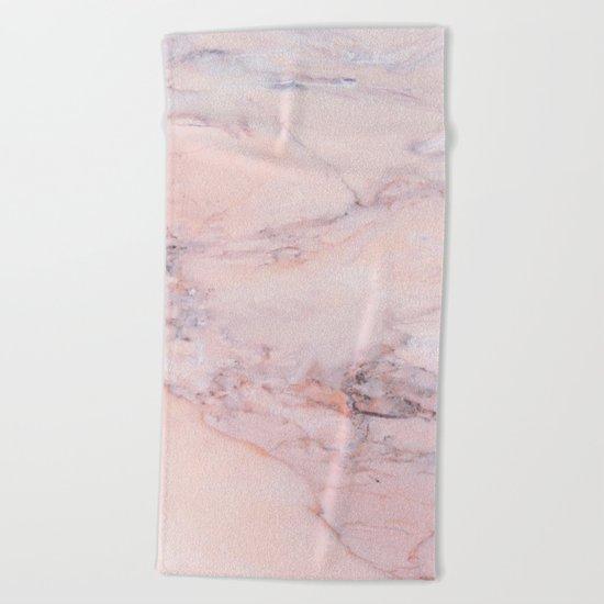 Blush Marble Beach Towel