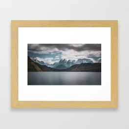 Somewhere over the mountain range Framed Art Print