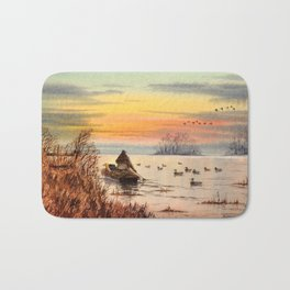 A Great Day For Hunting Ducks Bath Mat