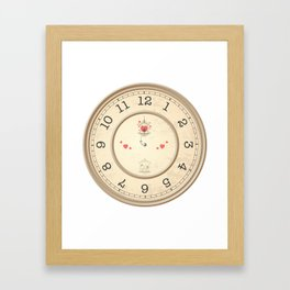 Wall clock heart Framed Art Print