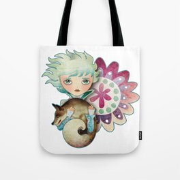Wintry Little Prince Tote Bag