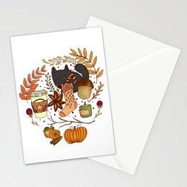 autumn essentials Stationery Cards